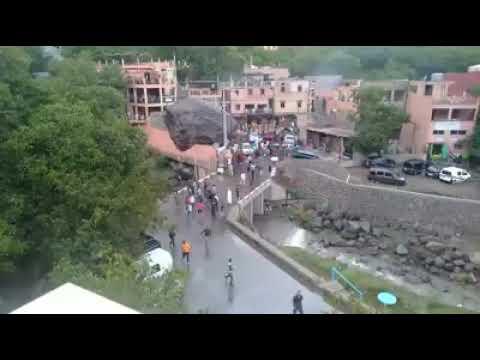 لحظة قدوم فيضانات واد إمليل إقليم الحوز مراكش fayadanat imlil asni
