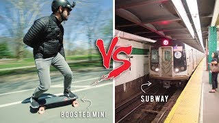 Boosted Board Mini S vs. NYC Subway