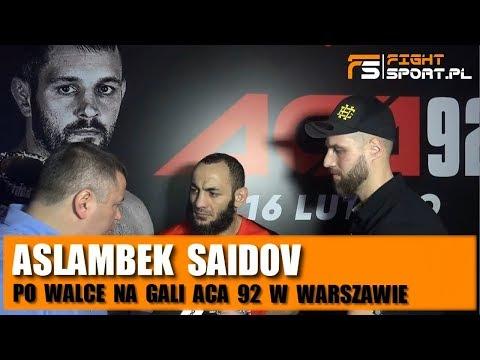 Aslambek Saidov Po ACA 92: To Była Ciężka, Ale Wygrana Walka!