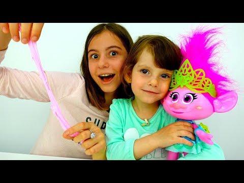 Делаем СЛАЙМ для Розочки из #Тролли 🌺 Видео #МастерКласс Игры для детей Как сделать #Лизун