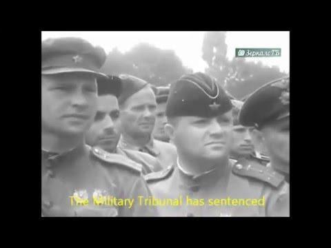 Public execution of Nazi collaborators in Krasnodar (English Subtitles)