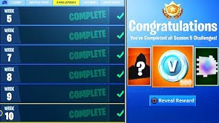 What happens when you COMPLETE ALL Week Challenges in Fortnite! (NEW SEASON 5 REWARDS UNLOCKED)