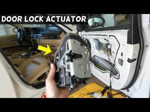 HOW TO REMOVE AND REPLACE FRONT DOOR LOCK ACTUATOR ON BMW E90 E91 E92 E93