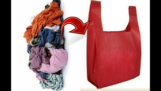 Cloth carry bags making with waste cloth | Best with waste