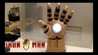 """Как сделать светильник """"Рука Железного человека"""" из картона"""