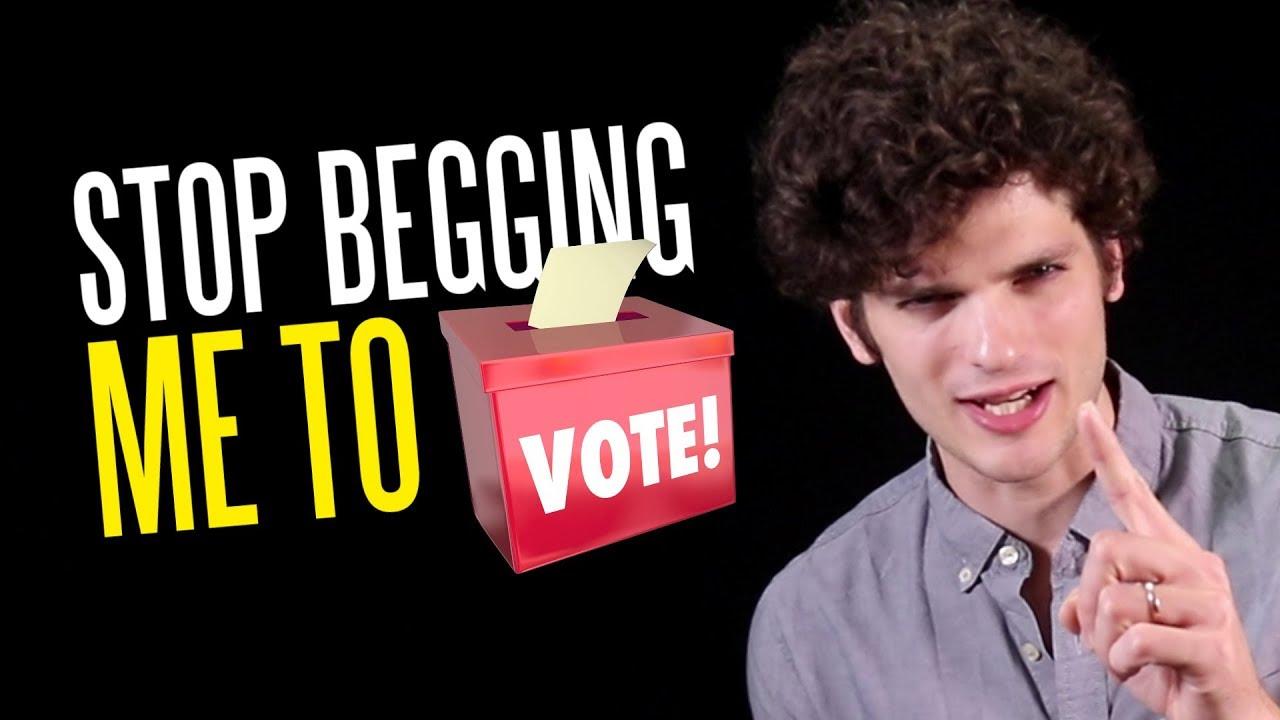Stop begging me to vote, celebrities.