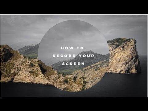Tutorial: How to record your screen and yourself easy
