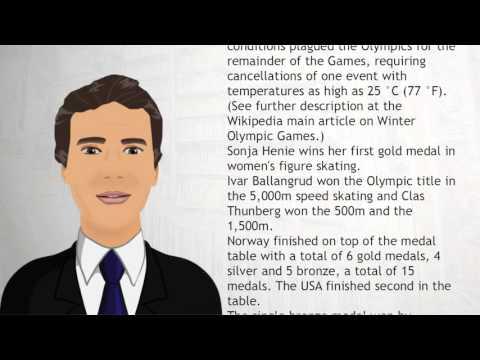 1928   St  Moritz, Switzerland - Wiki Videos