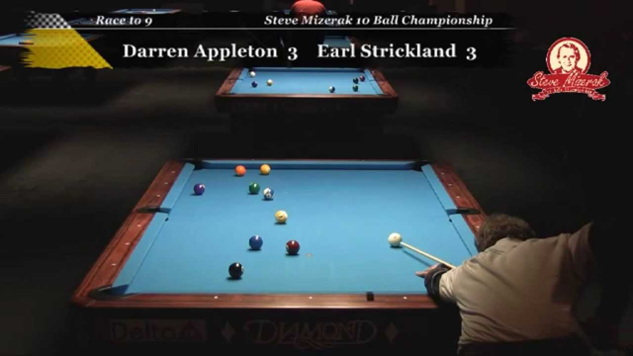 Earl Strickland Vs Darren Appleton At The Steve Mizerak - Steve mizerak pool table