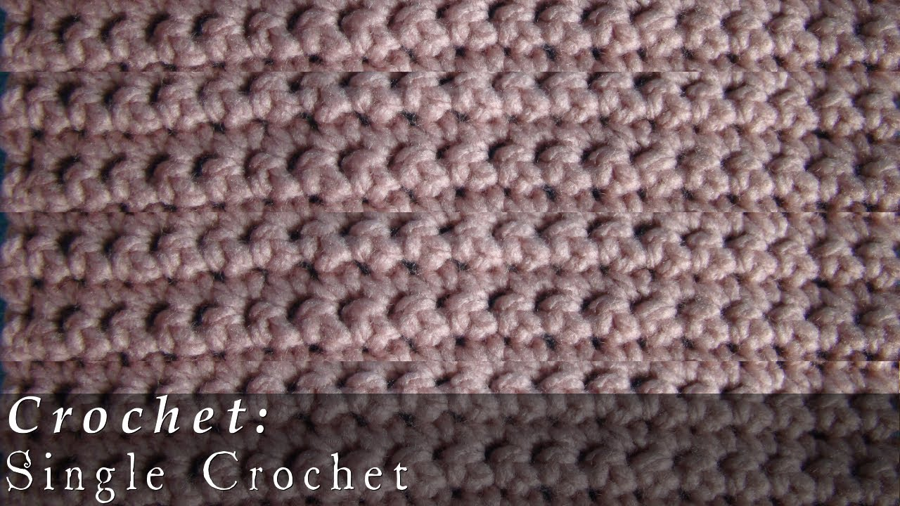 Single Crochet | Pattern | Crochet Challenge 1/63 - YouTube