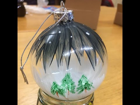 Painting Christmas Baubles with Thorndown Peelable Glass Paint