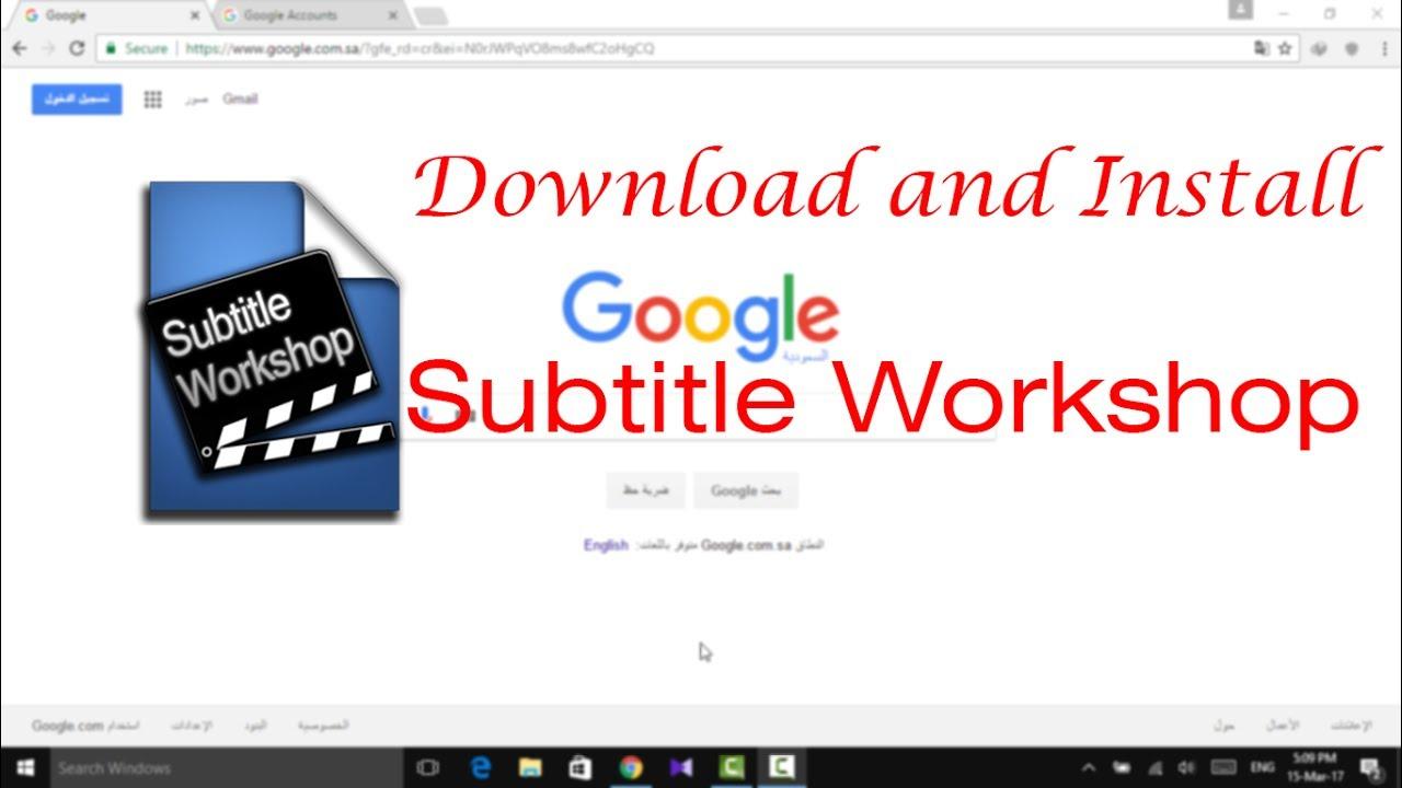 download and install Subtitle Workshop