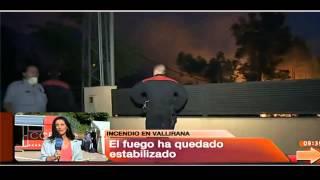Estabilizado el incendio del municipio barcelonés de vallirana