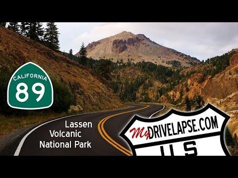 Driving Tour of Lassen Volcanic National Park, California Dashcam Time Lapse