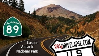 Driving Tour of Lassen Volcanic National Park, California Dashcam Time Lapse