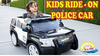 Police SUV Car Battery-Powered Wheel Ride On Kids Car | 2 Year Old Tino Test Drive Playtime Park
