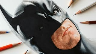Drawing Batman with 3D art technique - Speed Drawing - DC
