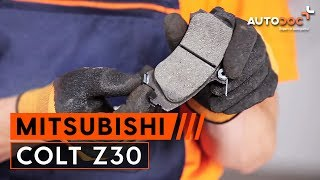 rear and front Caliper installation MITSUBISHI COLT: video manual