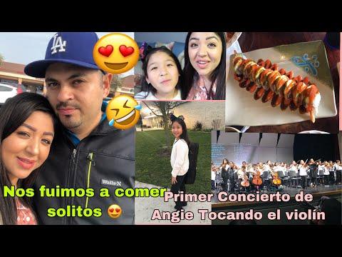 José me invito a comer los dos solitos 😍 Primer Concierto de Angie tocando el violín 🎻/ Vlogs