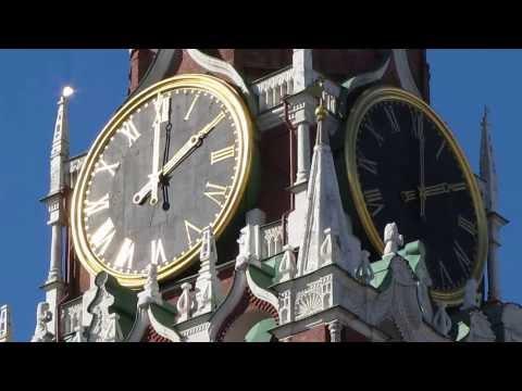 Кремлёвские КУРАНТЫ, Спасская башня Московского Кремля, Красная площадь