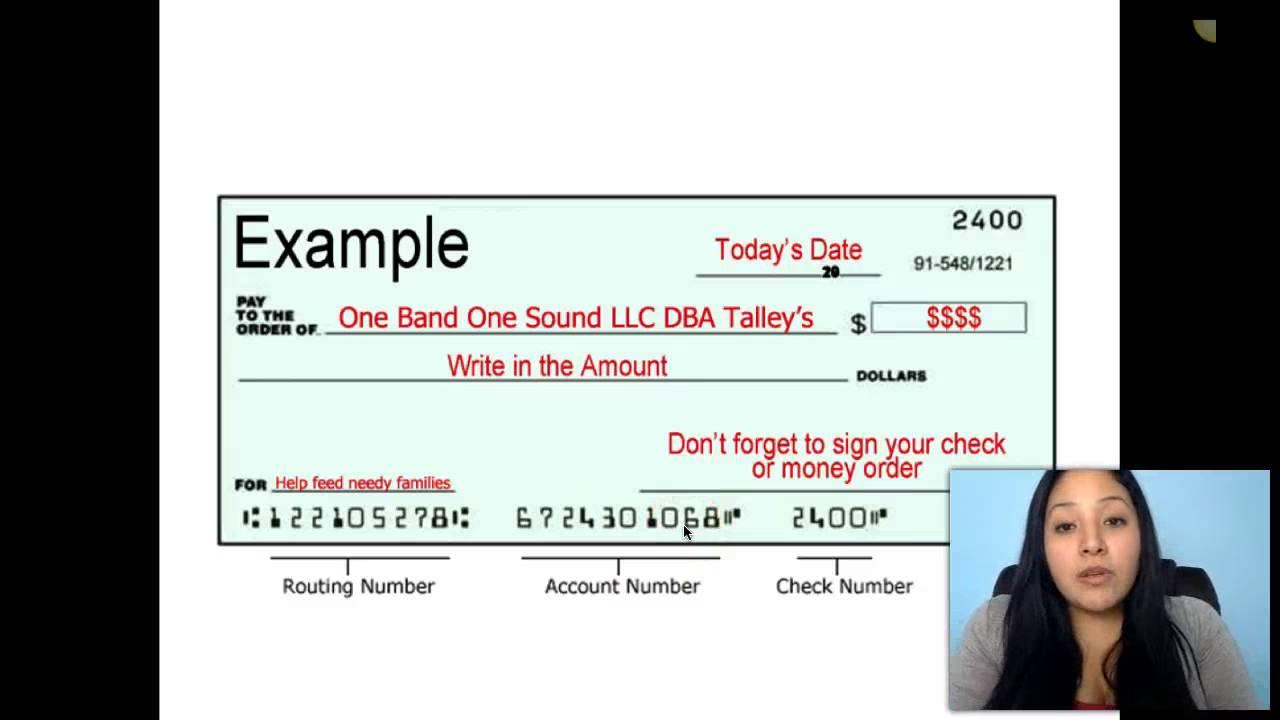 Como llenar un money order o cheque youtube ccuart Images