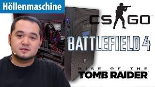 Höllenmaschine UVR: Zocken in 4K mit CS:GO, Tomb Raider & Battlefield 4 | deutsch / german