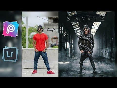 PicsArt Snake Manipulation Editing | Snake+Boy Rollout photo Editing Tutorial | Royal Editing