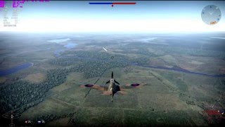 War Thunder - Spitfire Mk IIa LONG LANDING (Realistic Battles)