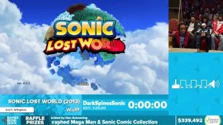 Sonic Lost World by DarkSpinesSonic in 1:19:52 - Awesome Games Done Quick 2016 - Part 70