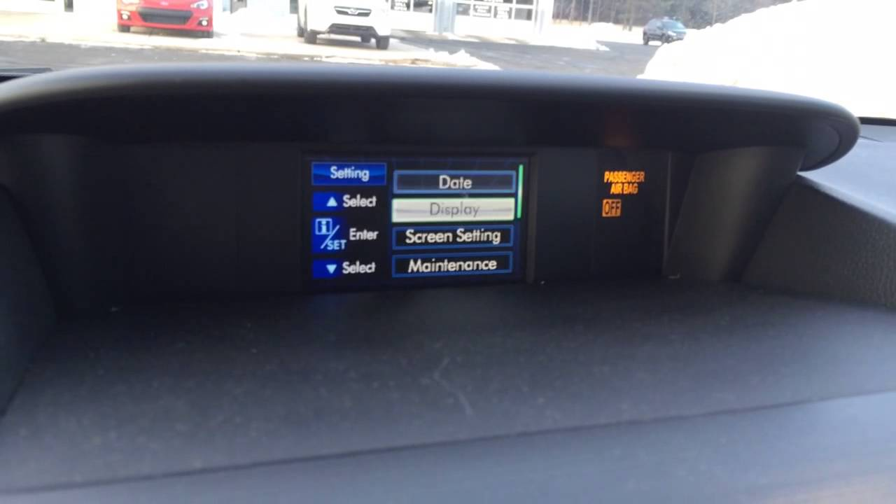 Subaru Outback Vs Forester >> 2014 Subaru Forester time or clock setting - YouTube