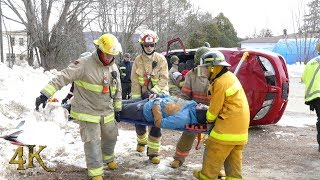 Amherst: Pratique de désincarcération / Fake crash drill with jaws of life 4-14-2018