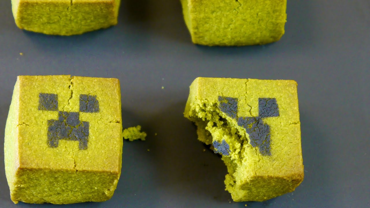 Minecraft creeper cookies youtube minecraft creeper cookies voltagebd Image collections