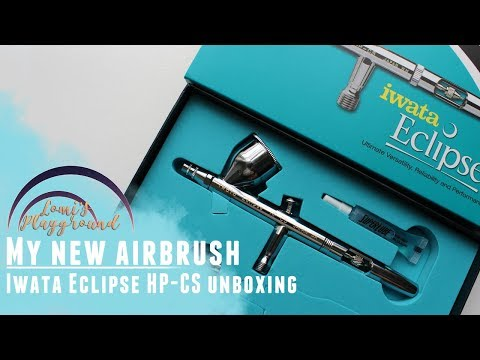 Unboxing Iwata Eclipse HP-CS airbrush and comparison to my old Master airbrush!
