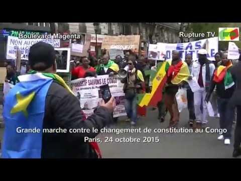 Grande marche des congolais à Paris contre le coup d'Etat constitutionnel du 25 octobre