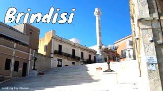 Le colonne romane alla fine della via Appia nel Salento ( Brindisi - Puglia - Italy )