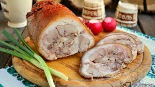 Свиная рулька фаршированная мясом