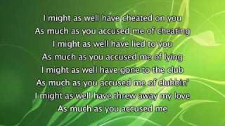 Keyshia Cole - I Should Have Cheated, Lyrics In Video