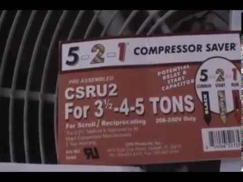 Hard Start Capacitor Wiring Diagram 5 2 1 Quot Compressor Saver Quot Hard Start Kit Installation Youtube