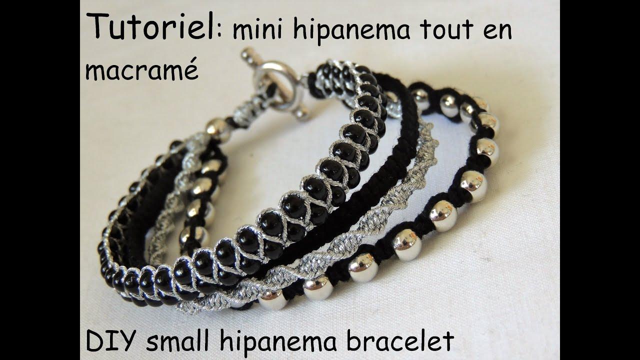 "Turbo bracelet inspiration ""mini"" hipanema tout en macramé DIY small  KA24"