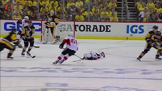 Brassard shaken up after hit from Kunitz