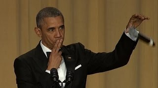 Obama drops the mic at his final WH Correspondents' Dinner