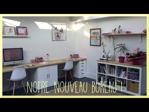 diy notre nouveau bureau ikea hack d co organisation sandra youtube. Black Bedroom Furniture Sets. Home Design Ideas