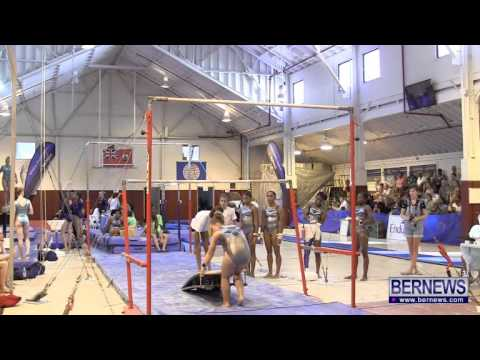 Bermuda Gymnasts Warm Up On Bars, July 16 2013
