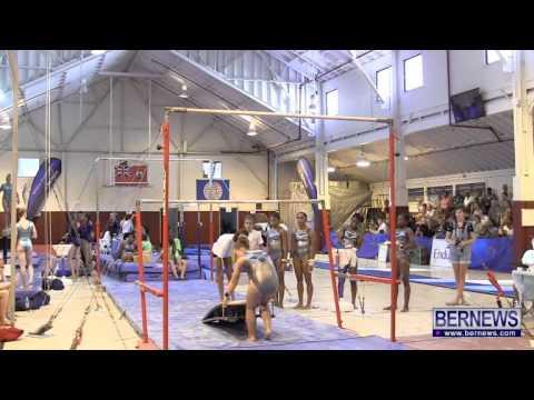 Bermuda Gymnasts Warm Up On Bars, July 16 2013