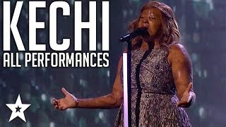 Singer Kechi | All Performance & Comments | America's Got Talent 2017 | Got Talent Global