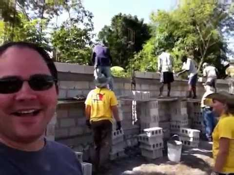 Me taking credit for building a wall in Haiti
