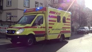 German Baby MICU responding (ambulance for babies) in Dresden [2.2014]