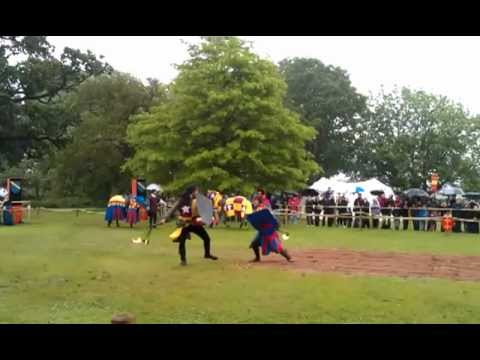 Jousting show at Warwick Castle