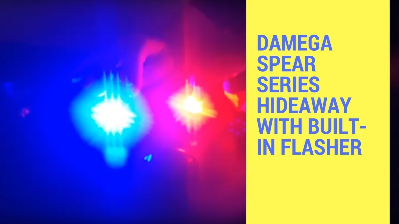 LED Hide Aways and Strobe Kits: DAMEGA SPEAR SERIES HIDEAWAY WITH BUILT-IN  FLASHER