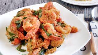 Super Easy Salted Egg Yolk Prawns / Chinese Crispy Shrimp Recipe 咸蛋虾 Singapore Street Food